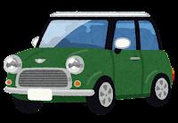 コンパクトカーのイラスト(緑)