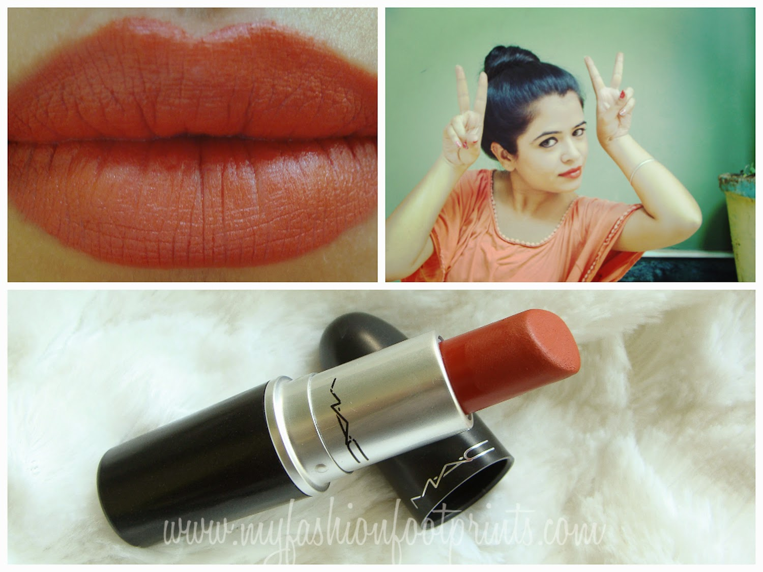 Conosciuto My Fashion Footprints: MAC Chili Lipstick Review, Swatches and LOTD ES99