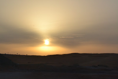 Sunset at Zakhe Lake or tilapia lake , Al ain