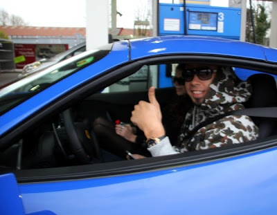 afrojack in blue ferrari replacement 458 italia