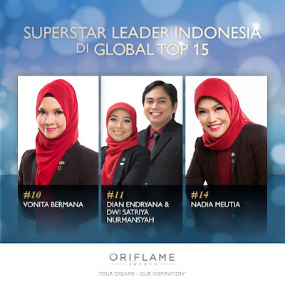 Superstar Leader Indonesia di Global TOP 15 Oriflame