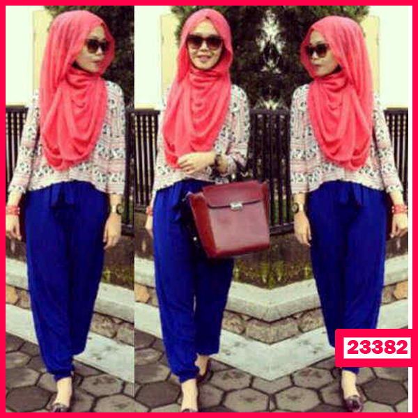 Busana: Busana Fashion  Wanita Setelan Hijab Alliya 3in1 (BBB-055)
