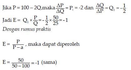 contoh persamaan elastisitas 1