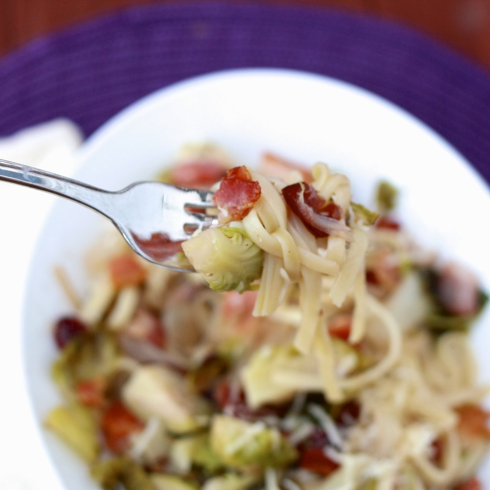 linguine with brussels sprouts
