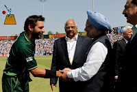 Shahid Afridi With Manmohan Singh