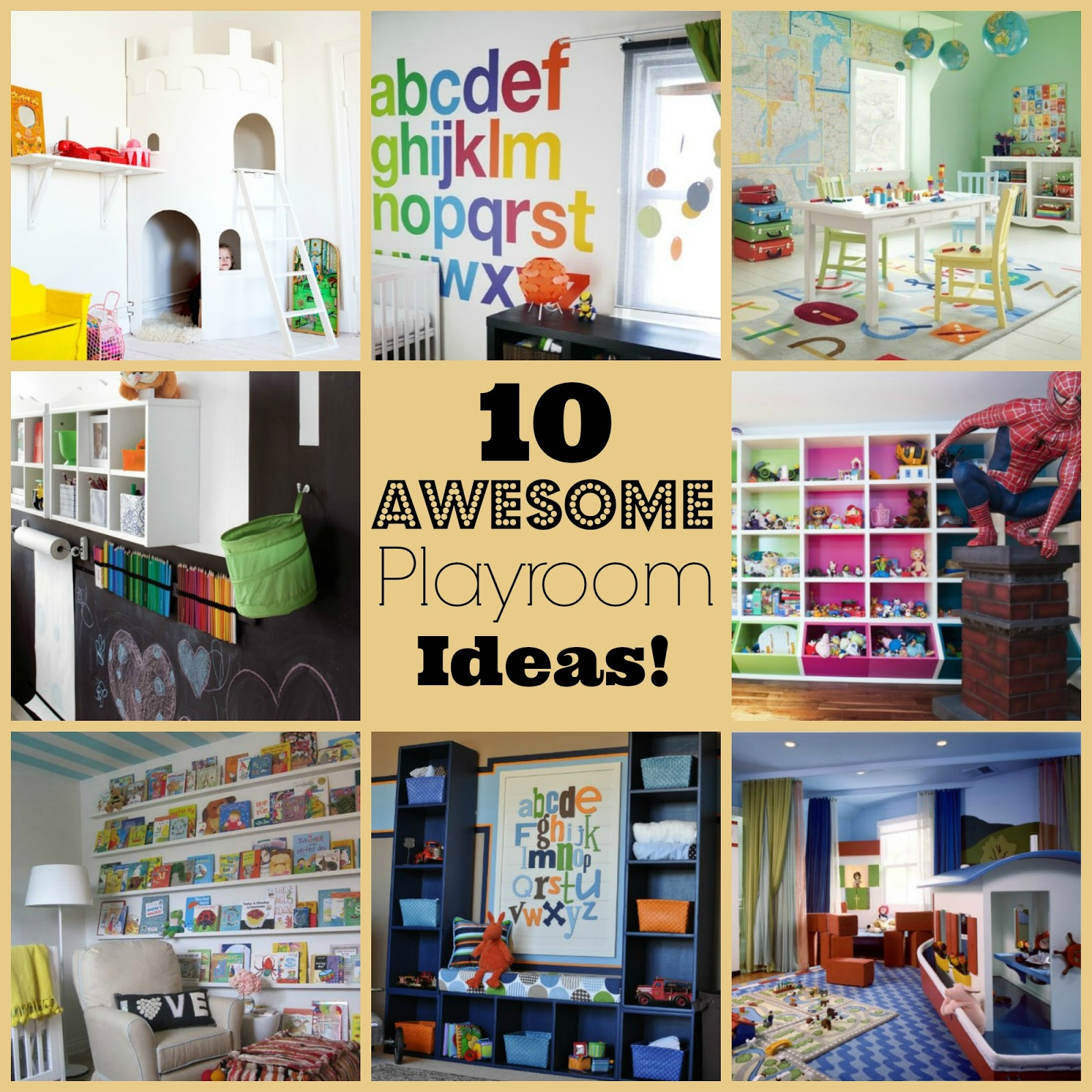 She Turned Her Dreams Into Plans 10 Awesome Playroom Ideas