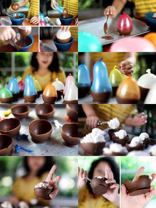 %C3%A7ikolata+kaseler Çikolatadan Kase Yapımı
