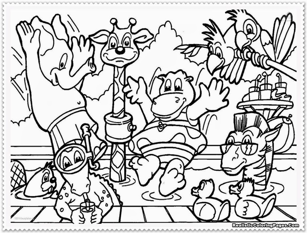 Zoo animal coloring pages realistic coloring pages for Zoo coloring pages printable