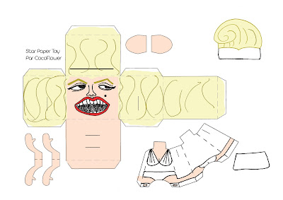 Marilyn Monroe free Paper toy by CocoFlower