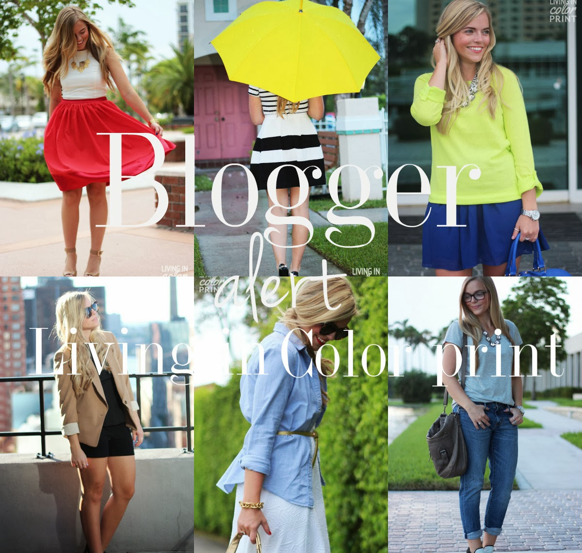 Blogger Alert   Living In Color Print