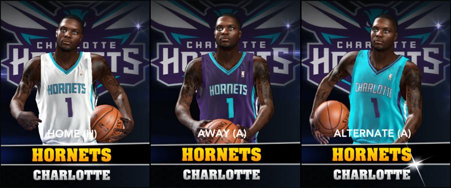 Charlotte Hornets in NBA 2K14 Roster