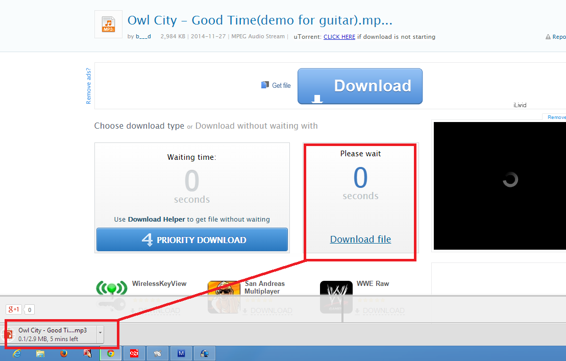 Cara Download di 4shared