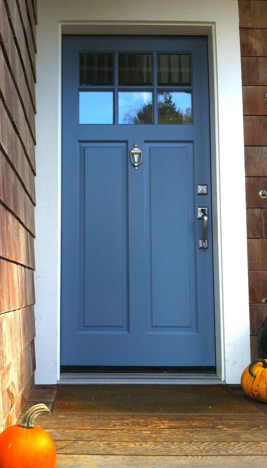 I dream of color story blue door orange pumpkins - Pictures of blue front doors ...