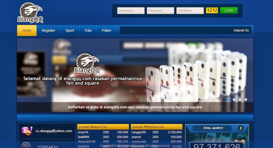 Daftar Poker Online Uang Asli ElangQQ.com