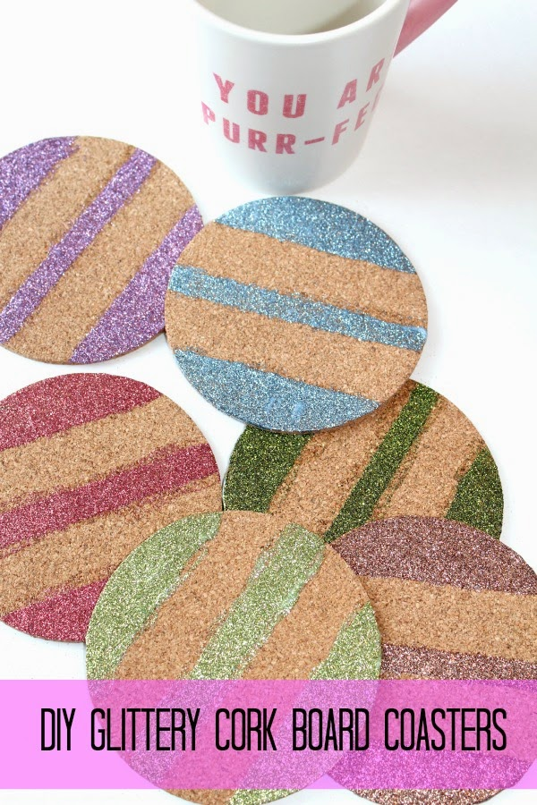 DIY Cork Board Coasters