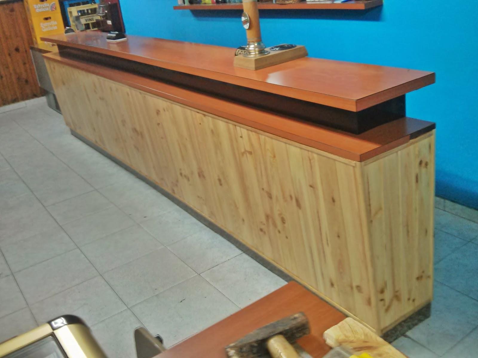 Carpinteria extrema sustituci n friso de una barra de bar - Barras de madera para bar ...