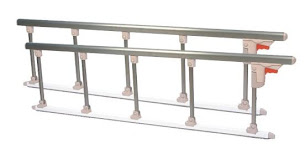Hospital bed side rail