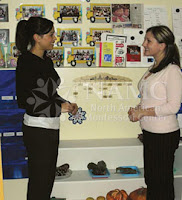 NAMC montessori teacher and parent in montessori classroom parent involvement new student orientation