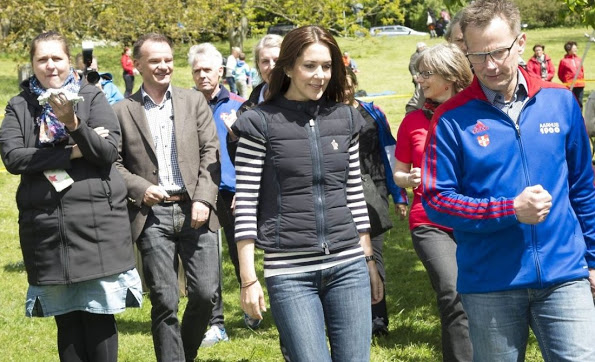 Princess Mary Participates In This Year's Børnestafet In Aarhus