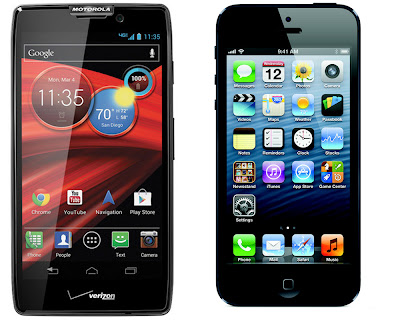 droid razr hd maxx and iPhone 5