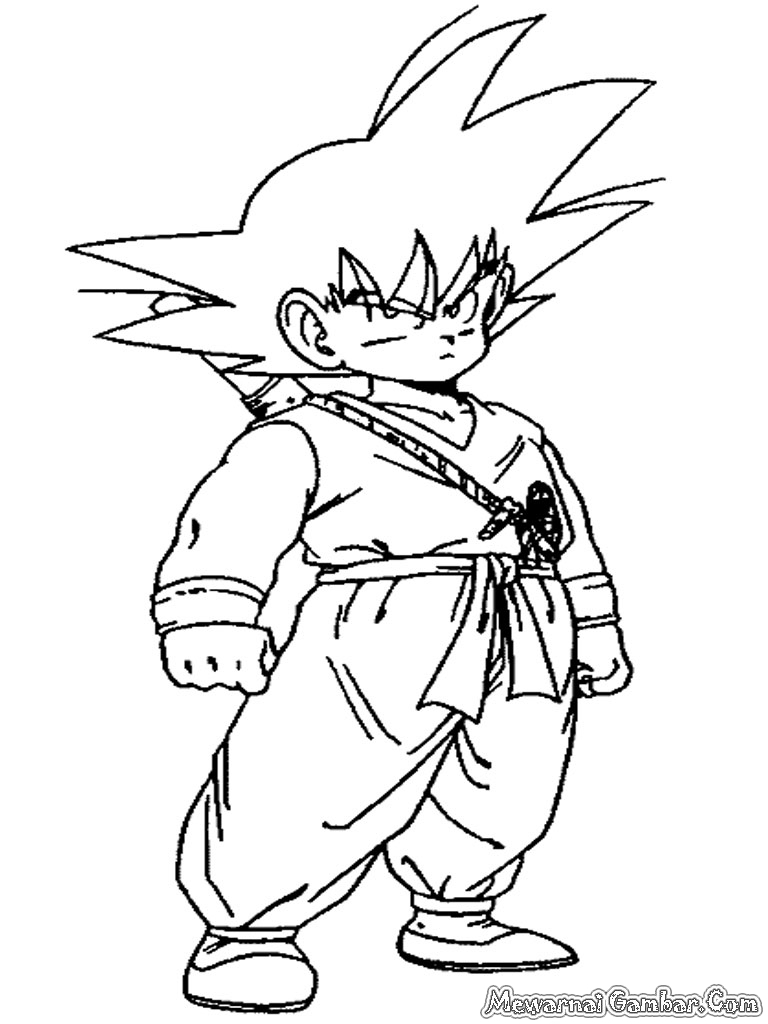 Gambar Gohan Dragon Ball Z Untuk Diwarnai