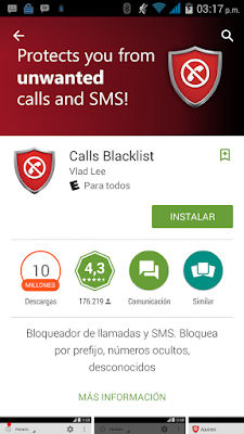 bloquear llamadas y sms