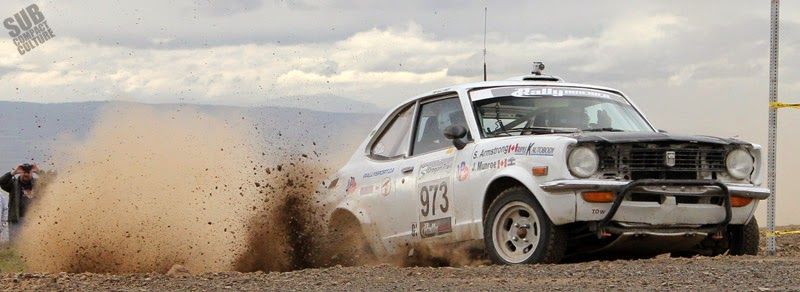 Vintage Toyota Corolla rally car