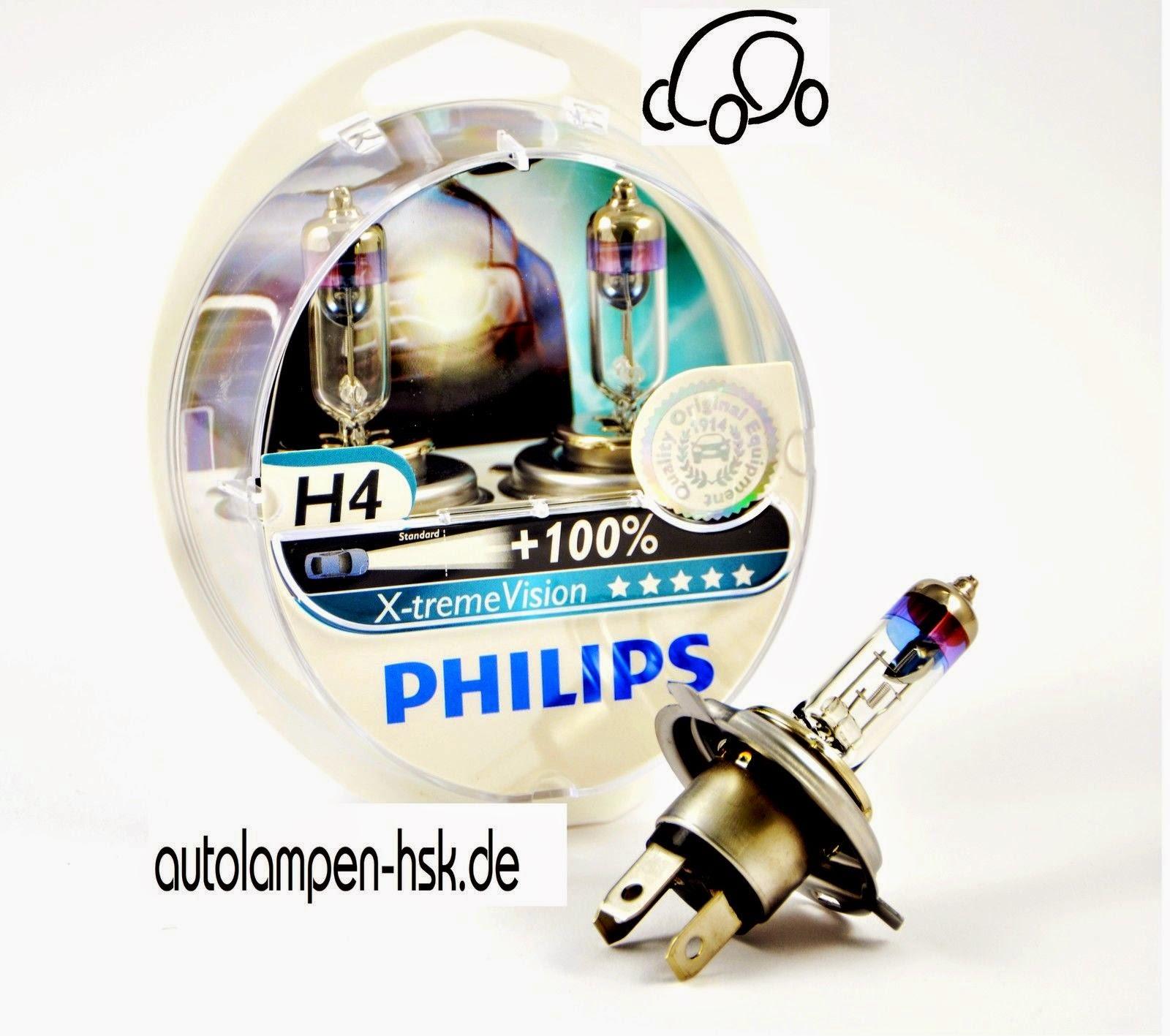 Philips H4 X-treme Vision +100% mehr Licht 2er Set ++TOP PREIS++