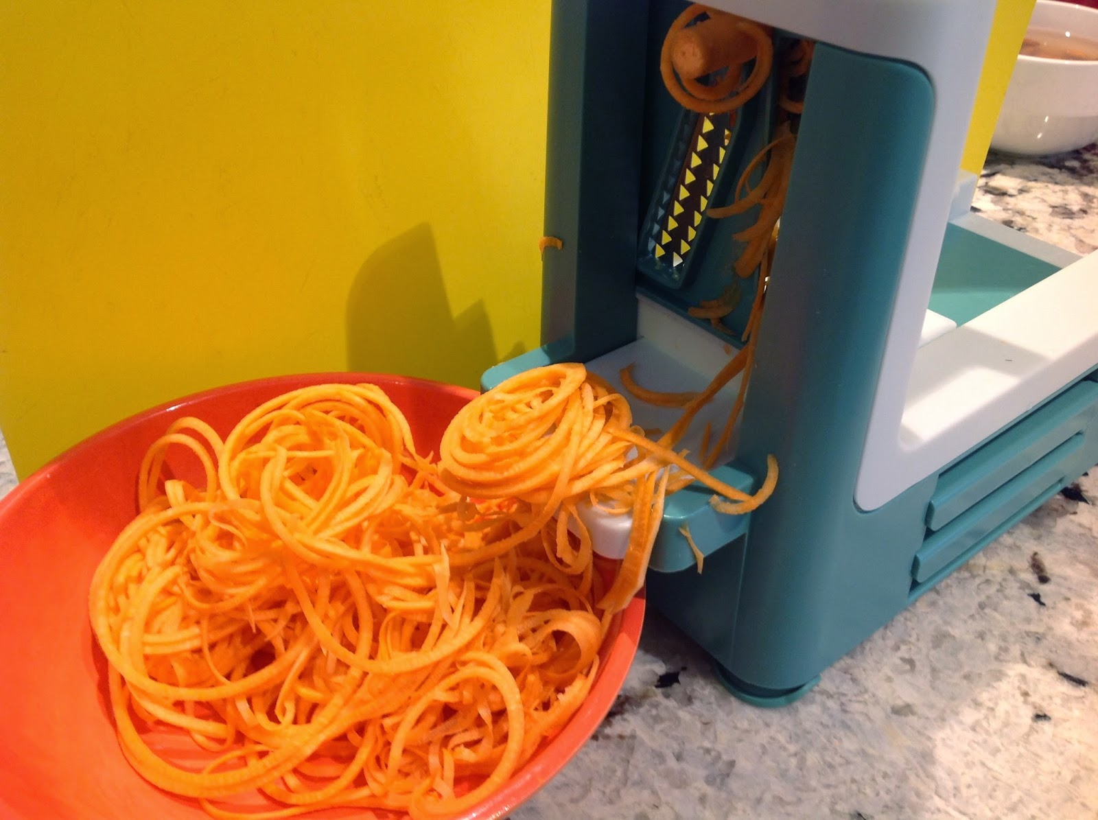 how to use a spiralizer sweet potato