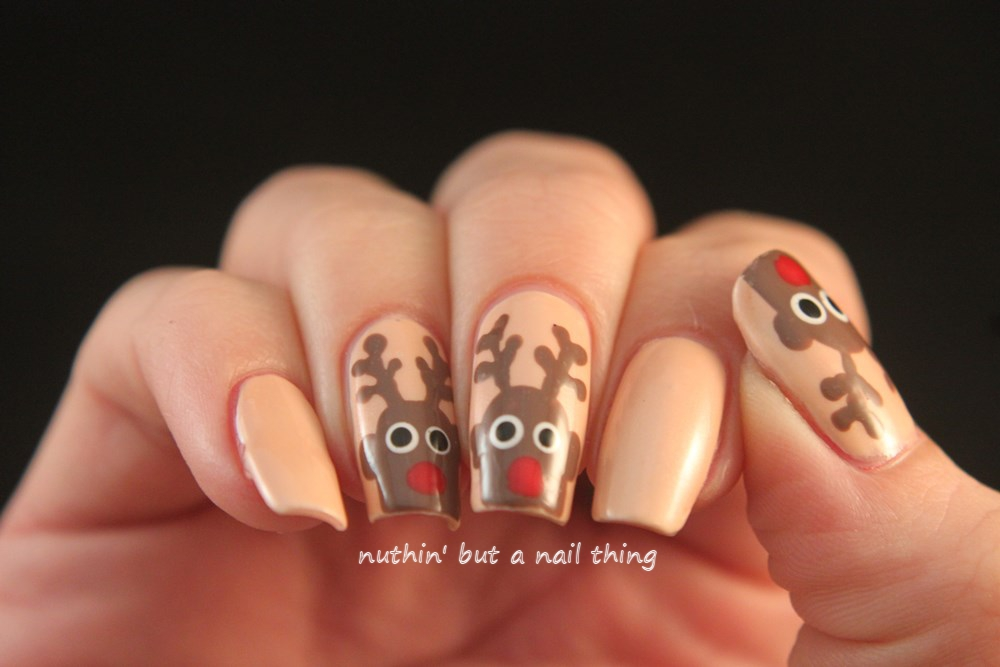 Binky London Nails - Christmas themed nail art
