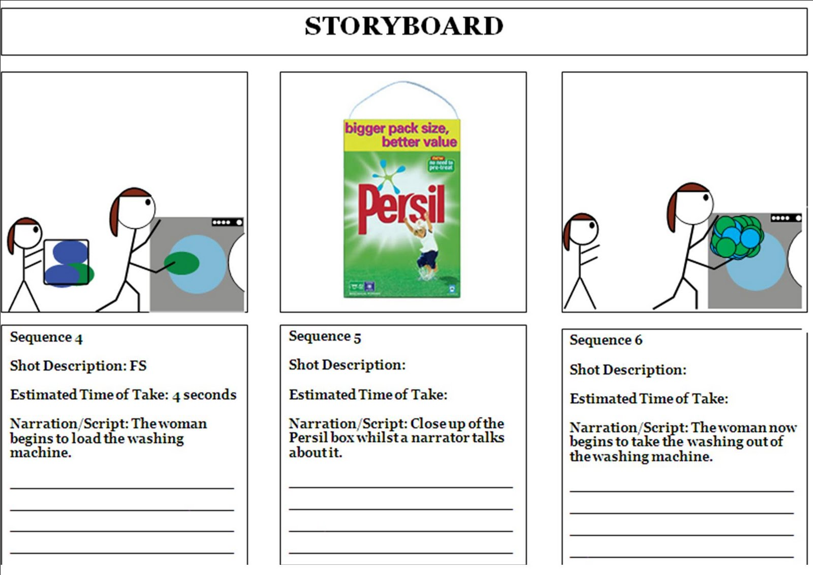 Storyboard (Advert 1)