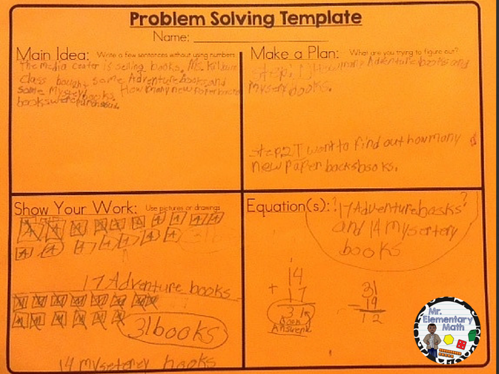 math problem to solve Math problems: knowing, doing, and explaining your answer tweet at the middle school, however, problem solving and explanation were intertwined, in the belief that the process of explanation leads to the solving of the problem.