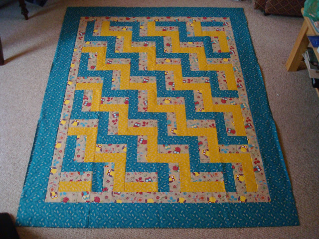 Baby fence rail quilt inner and outer borders