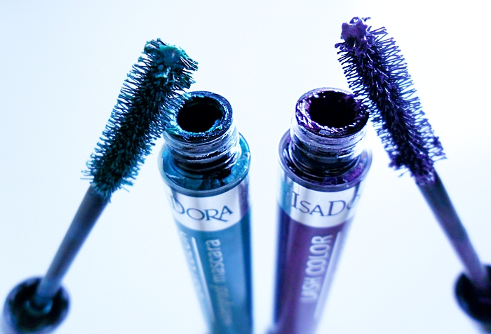 IsaDora Lash Color Waterproof Mascara 51 ocean green, 53 purple rain