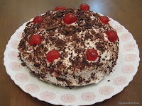 Eggless Black forest cake