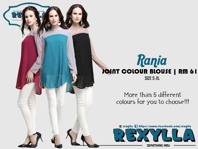 rexylla, joint colour, blouse, rania collection