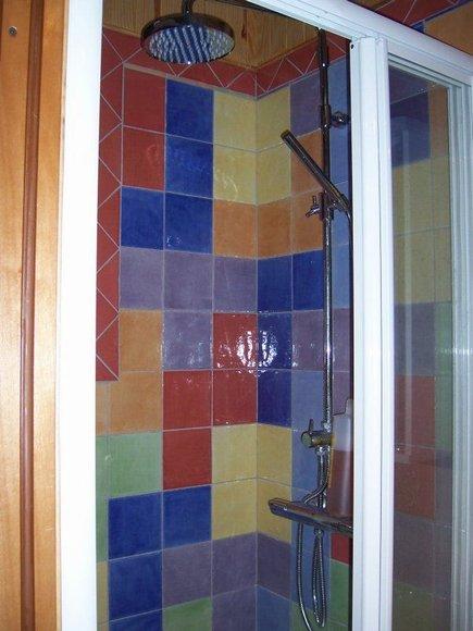 Quien Invento La Regadera De Baño:Tetris Tiles Bathroom