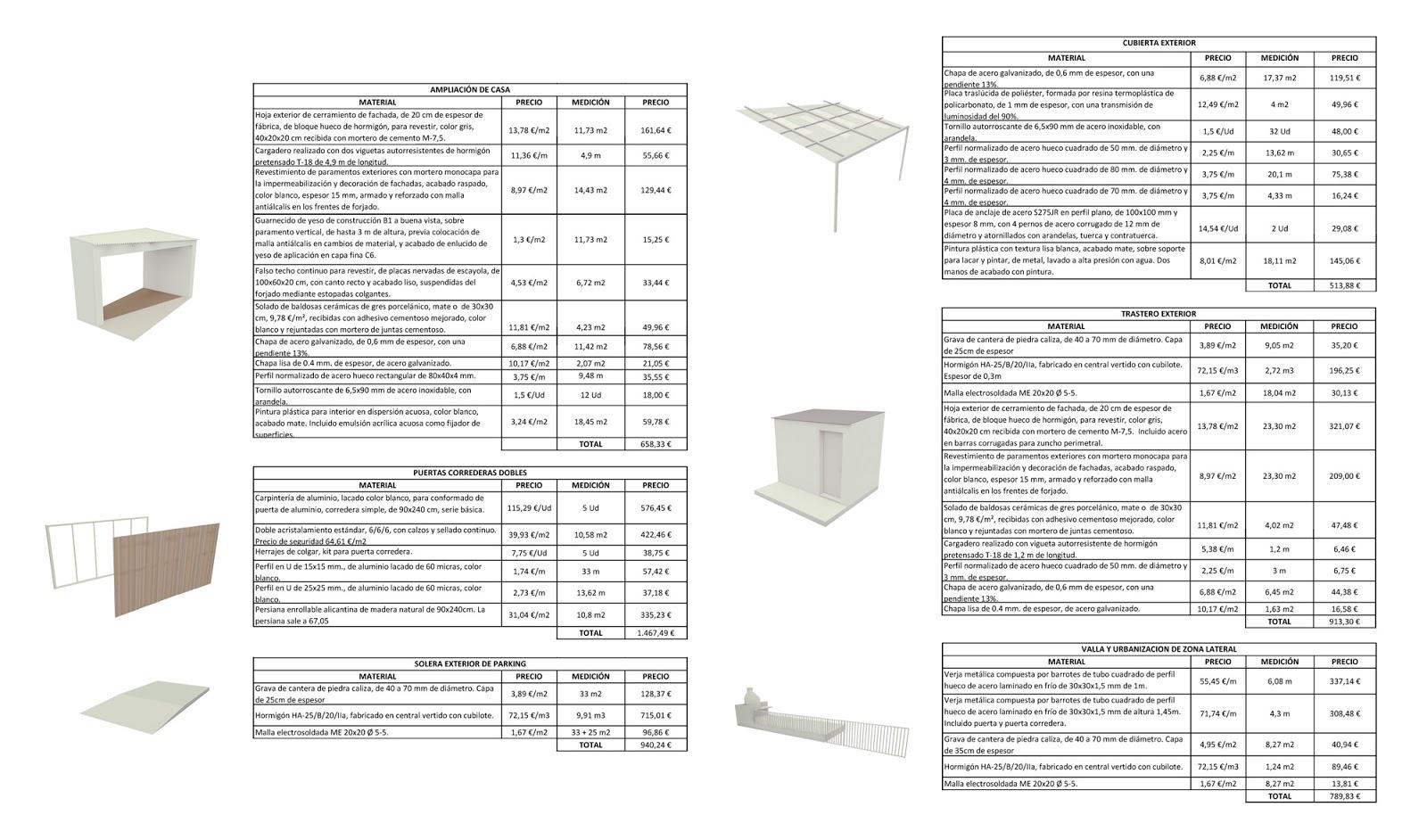 Aarkitectura: Proyecto H: presupuesto y estructura / Proyect H ...