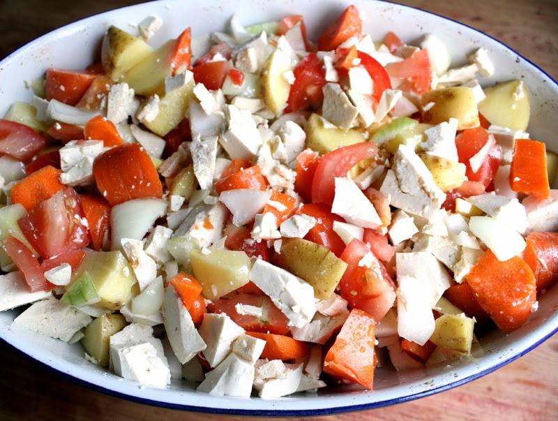 Oppskrift Enhåndsgrateng Tofu Grateng Grønnsaksgrateng Enkel Middag