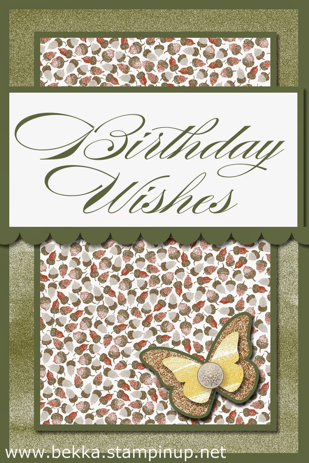Digital Birthday Card by Stampin' Up! UK Independent Demonstrator Bekka - try digital crafting for yourself here FREE