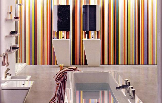 Altura con rayas verticales decorar paredes - Pintar paredes a rayas horizontales ...