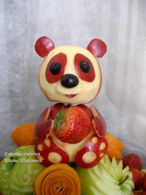 панда из фруктов карвинг южно-сахалинск