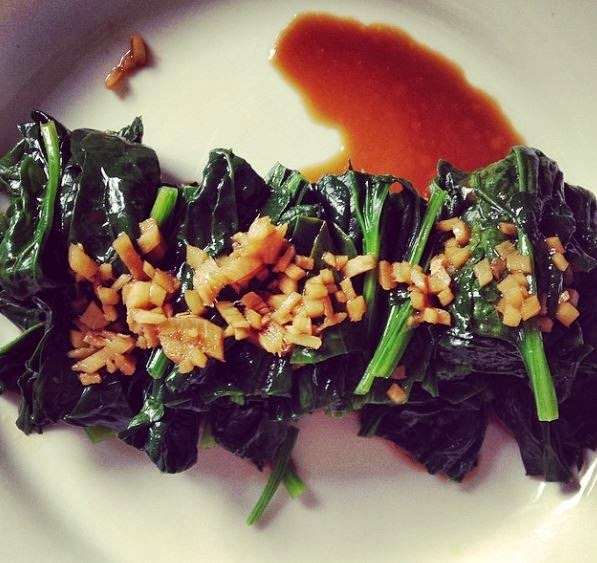 Spinach With Soy And Ginger Sauce Photo Credit: Lucy Corry