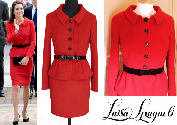 The Duchess Cambridge's LUISA SPAGNOLI Red Suit