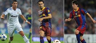 Nominados al mejor Jugador de la Temporada 2010 – 2011 en Europa