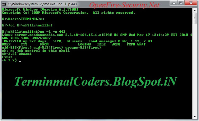 Dda Line Drawing Algorithm In Linux : Reverse connection using netcat