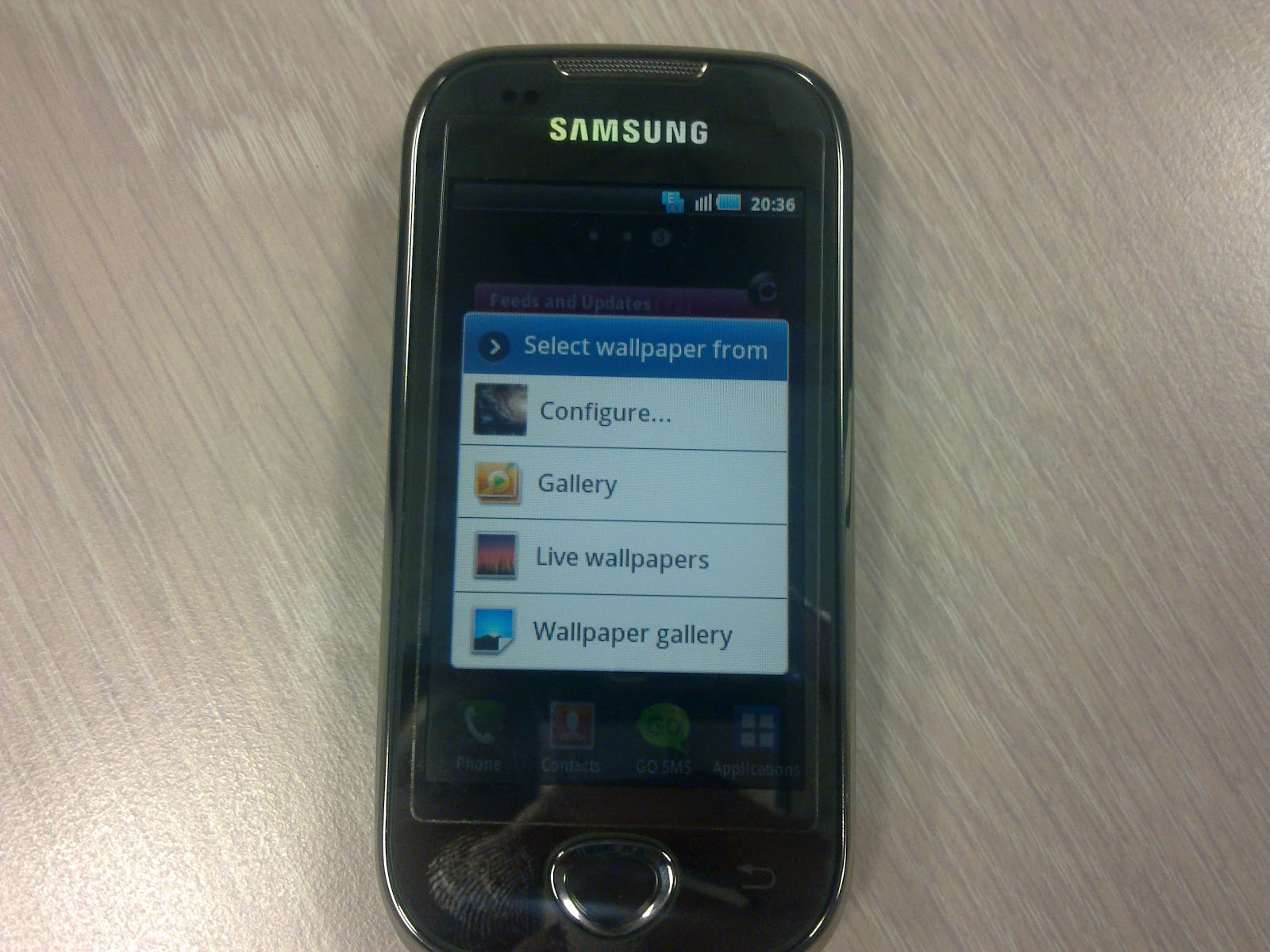 Add 1: Samsung Widgets 1, As You Can See, Android 2.2 On, Android 2.1 Offers Live