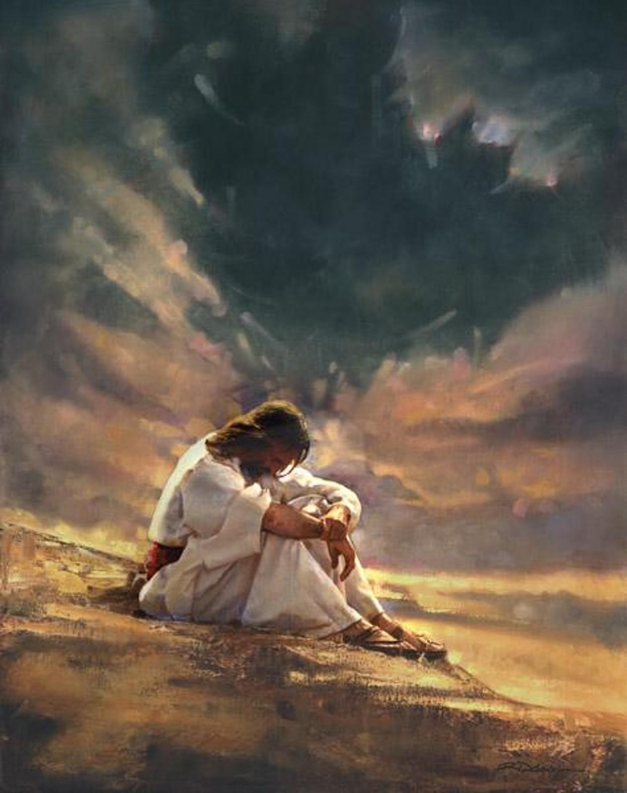 Resultado de imagen de jesus en el desierto