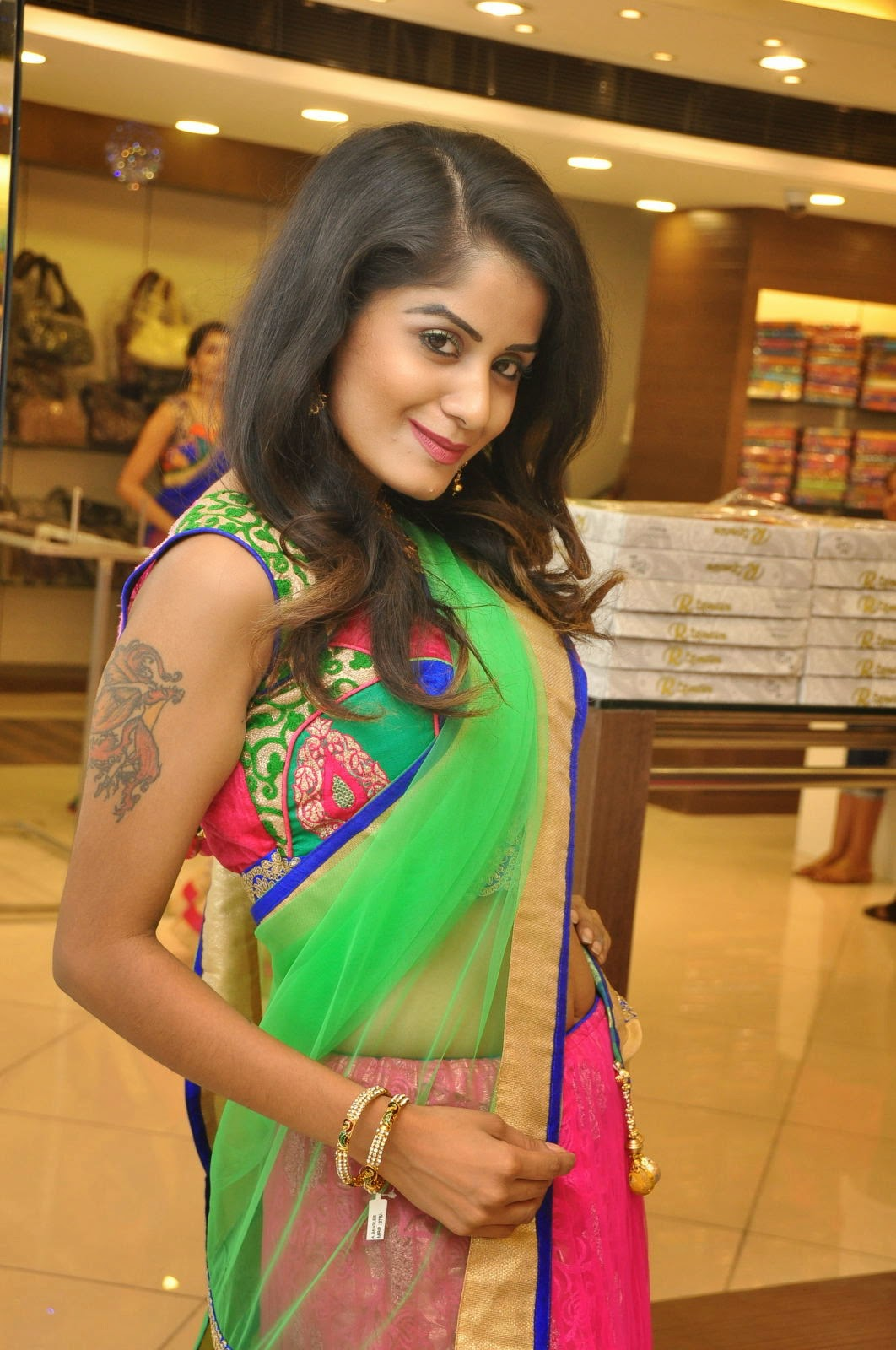 Anukruthi Glam pics in half saree-HQ-Photo-20