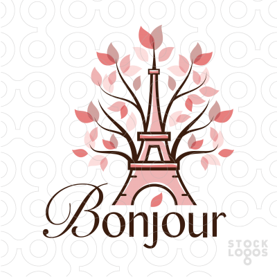 25 Romantic Eiffel Tower Logos Collection